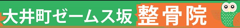 大井町ゼームス坂整骨院