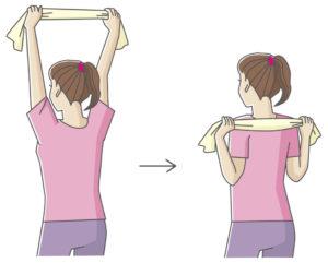 肩甲骨ほぐし運動